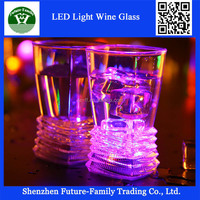 Wholesale Bar Promotional Led Light Up Whisky Drinking Glass Led Shot Glass