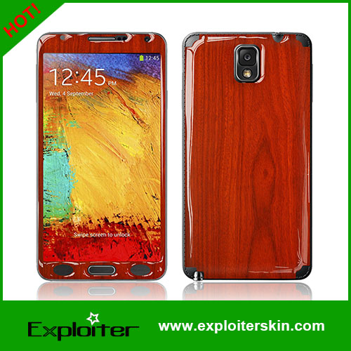 Design your own note3 phone cover with gel skin sticker