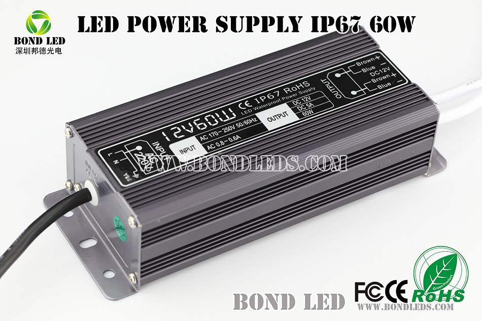40w 50w 60w 65w 70w 80w 100w led waterproof power supply 12v