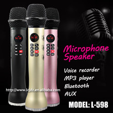 L-598 tour guide mini microphone portable speaker with microphone jack