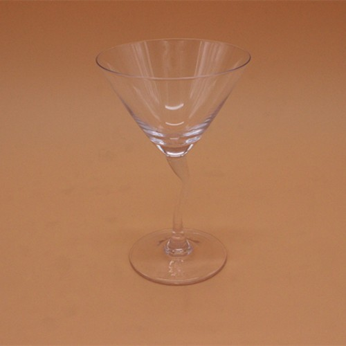 Cocktail Drinking Glass With Crooked Stem
