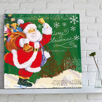 2015 christmas decoration handmade oil painting on canvas large size