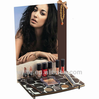 Tabletop acrylic nail polish/ eyeshadow/ lipstick display rack
