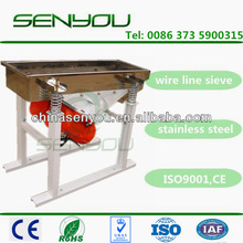 Electric linear vibratory screener equipment for sieving activated carbon coal