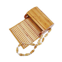 Bamboo Bag High Quality Designer Wood Fashion Crossbody Shoulder Bag Ladies 2019 Summer Holiday Beach Female Causal <strong>Totes</strong>