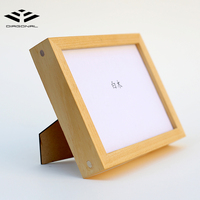 New style pure wooden photo frame wood 8 x10 picture frame with stand