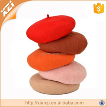 Winter hat high quality women wool beret 100% wool