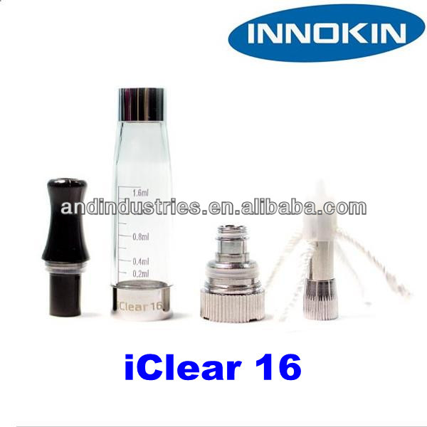The innokin iclear 16 dual coil clearomizer takes the ce4 clearomizer to a whole new level. Dual coils, 4 wicks, replaceable coi