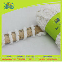 china knitting winter yarn factory huicai good selling oeko tex pure 50g rolls polyester 0.6 Nm chenille yarn