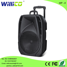 High quality street broadcast trolley speakers acoustic subwoofer