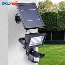 IP 65 indoor and outdoor garden wall light Motion sensor constant light 60 led Solar Flood Light
