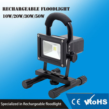 Portable USB cord charge led light 10W rechargeable led flood light