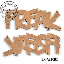 Vintage Bronze Laser Cut Alloy Freak Pendants