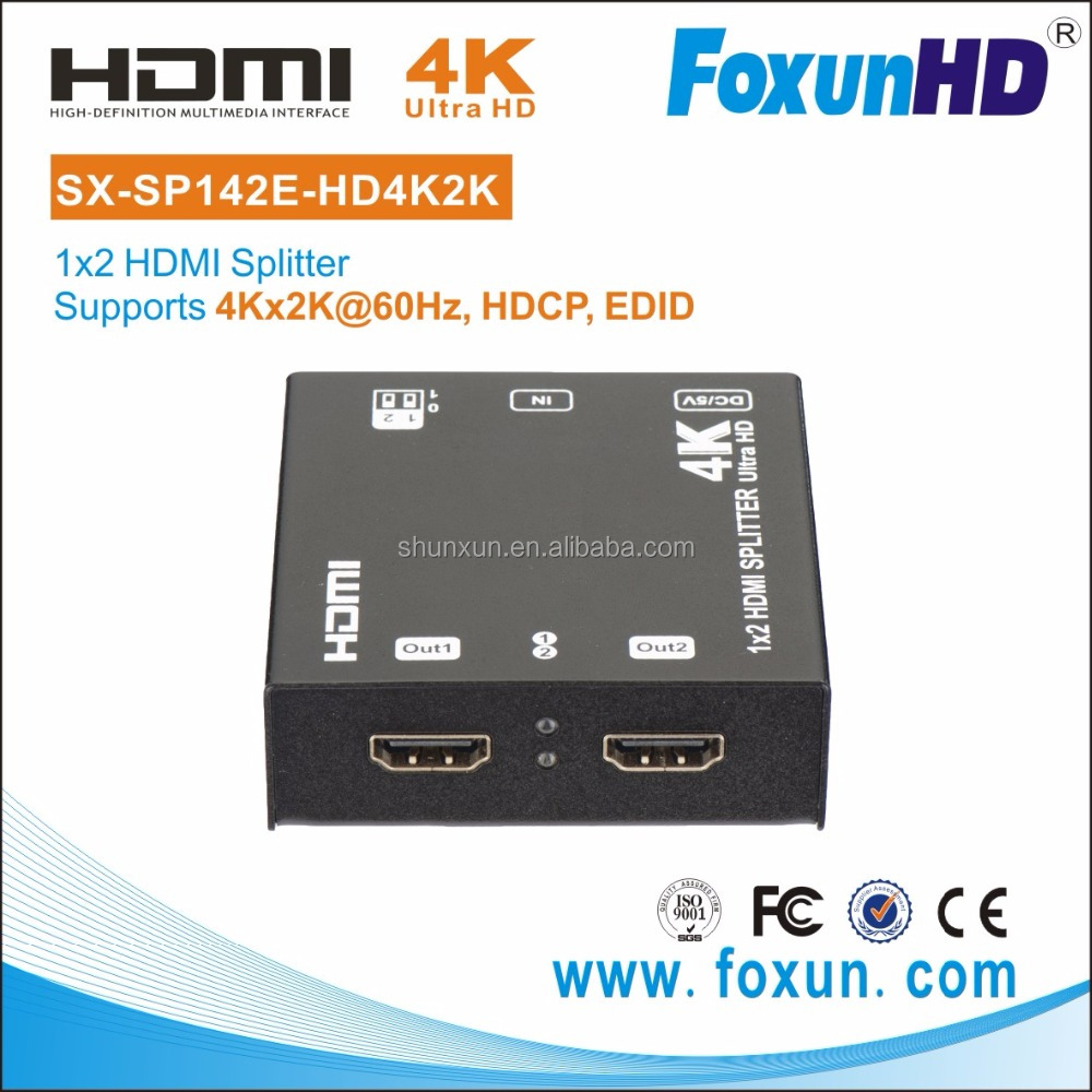 2 Ports HDMI Switch/Splitter [ Ver 1.4 ] for 4K@60hz 1 in 2 out HDMI Splitter (3840x2160@60hz YUV 4:2:0)