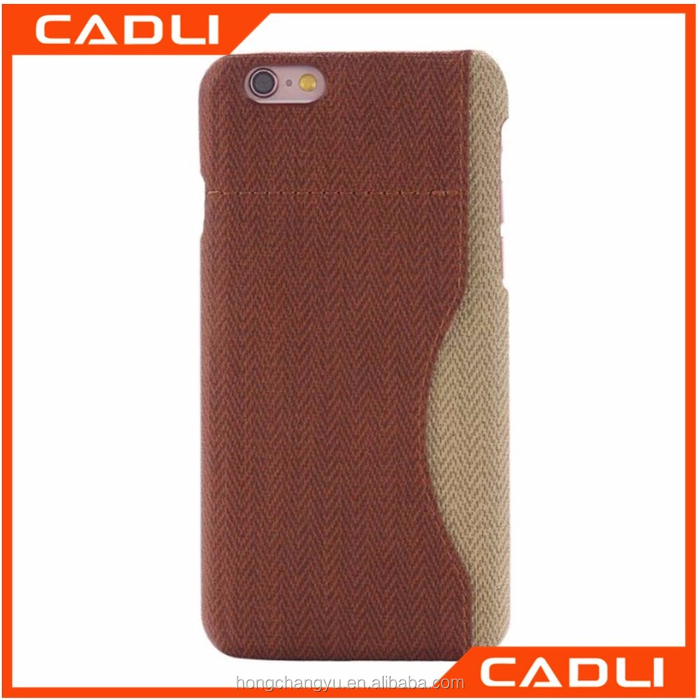 2016 fashion phone case weave pattern PU leather case for iphone 6s 6s plus with card slot stitching