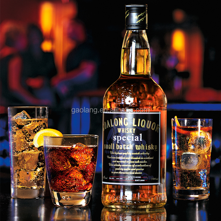 High quality 1l whisky, 250ml whisky glass bottle whiskey manufacturer