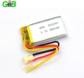 Rechargeable lithium ion battery 502040 3.7v 380mah small lipo battery for smart devices