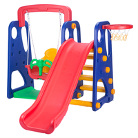 Eco-Friendly Colorful Play Toy Slide And Swing