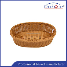 Handweaved graceful Washable plastic Rattan storage basket for bread