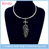 Exotic ethnic necklet crystal feather pendant necklace africa women accessories