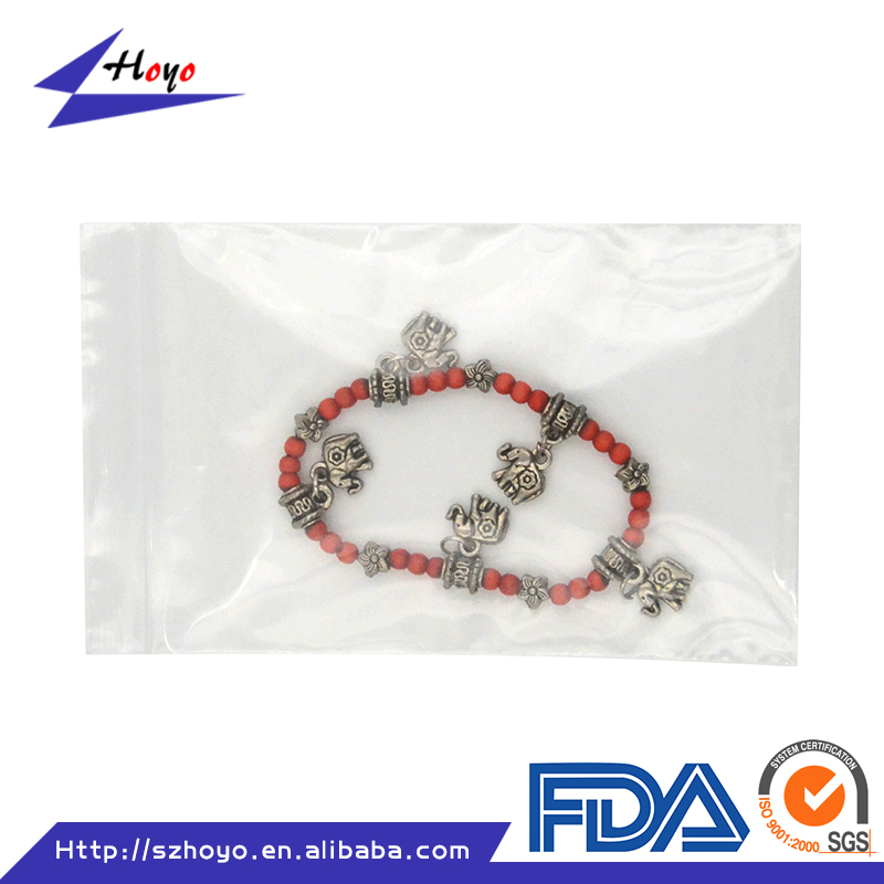 Factory Price ECO Friendly Resealable Transparent Clear PE Plastic Gift Zipper Bag/.