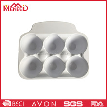 Hot sale custom logo durable 6 divided melamine tray, white unbreakable plastic ice cube tray