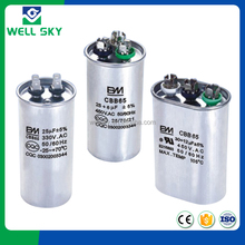 CBB65 capacitor, compressor/refrigerator/air conditioner usage capacitor filter capacitor