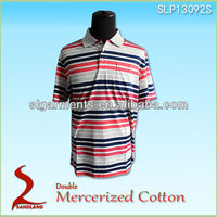 Custom cotton embossed short sleeve men's pima cotton polo tee shirts