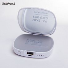 Led Light Compact Makeup Cosmetic Mirror with 4000mah Power Bank USB Charger