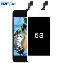 Newest supply for iphone 5s lcd screen digitizer without any logo in connection cheap for iphone 5s lcd with digitizer !