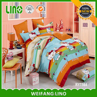 super king size bedding sets/bed sheet free samples/hello kitti bedding set king size