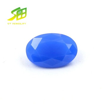 top quality synthetic nano spinel 230# oval cut blue color gemstone