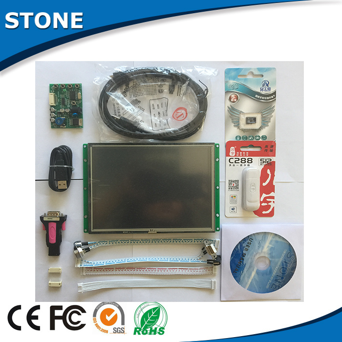 lcd display with touch screen 8'' for automatic machine