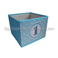 pretty storage boxes for boys blue non-woven with print number