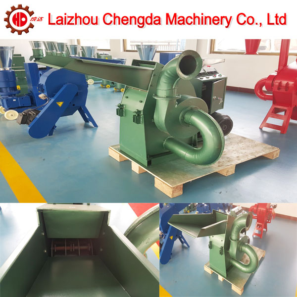 CF420C wood hammer mill, mini wood crusher with CE certification