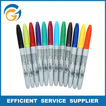 12 Colors Bullet Permanent Ceramic Marker
