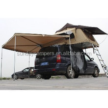 equipment campers Canvas fibric car tent roof top,camping tent with awing