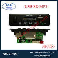 JK6826 Indonesia hot sales usb sd mp3 decoder with folder search