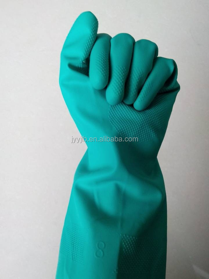 YJ-001 Household green nitrile <strong>gloves</strong>