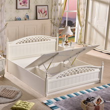 2016 Latest Storage Bed Furniture Wooden Double Bed Designs with Box Storage