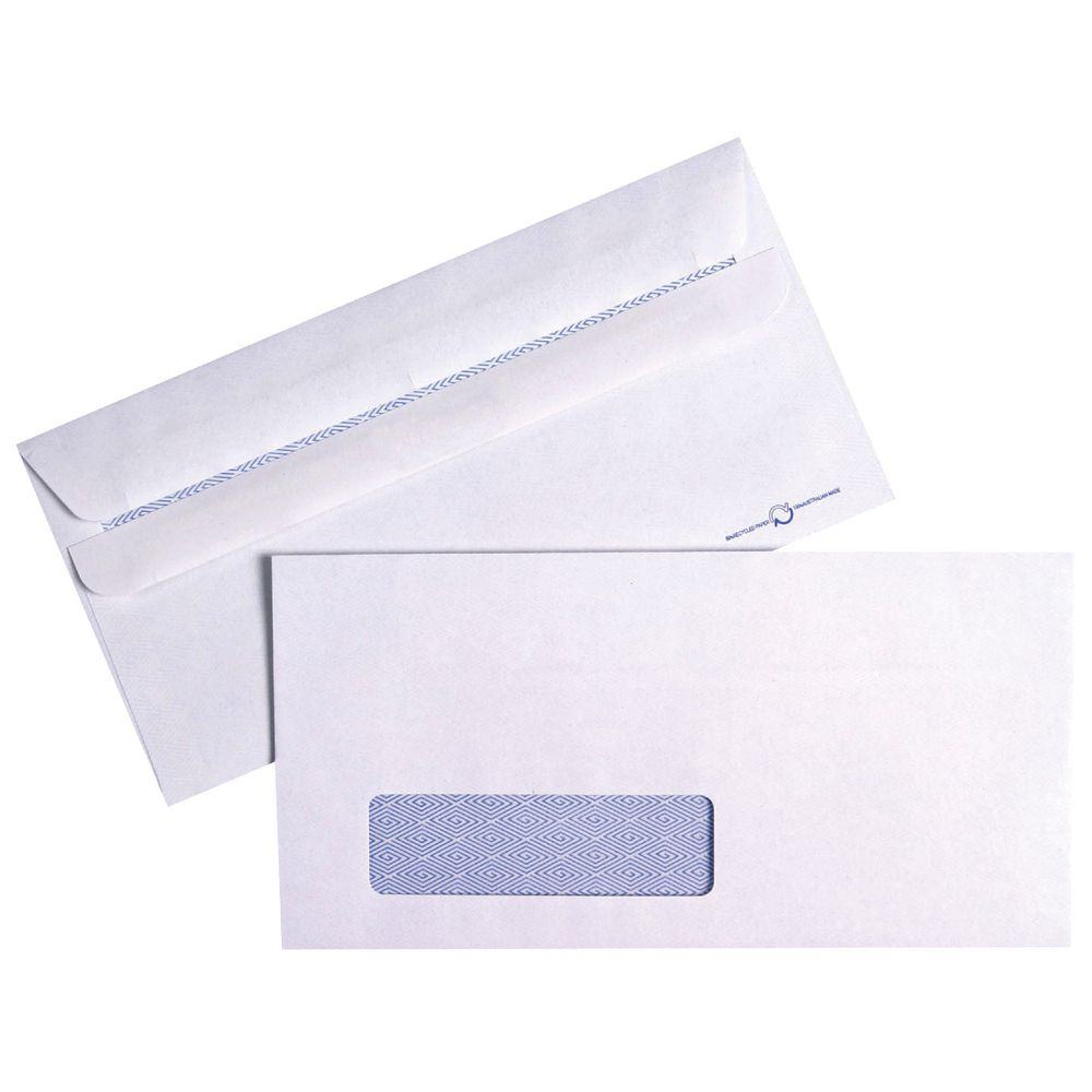 10 A4 Adhesive Self-seal Envelope Custom Business Double Window ...