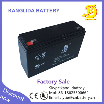the best suitable 6v12ah rechargeable battery for children's toy car