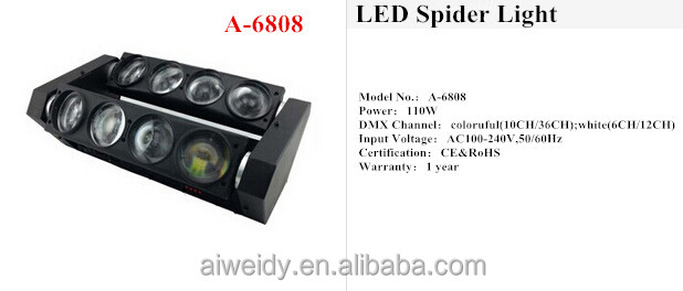 8 eyes Beam 8*10W LED Spider Light