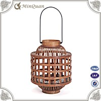 antique wrought iron brown lantern ,hand held indoor candle lantern