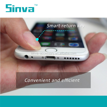 Top brand Sinva two smart keys touch tempered glass screen protector for iphone 6/6plus