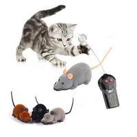 Fashion Funny Cat Dog Toys Remote Control Simulation Mouse Kids Toys Ears Random Color