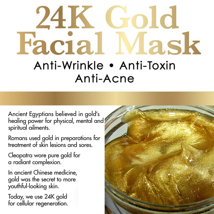OEM Pure Luxury 24k Gold Mask lift firm mask