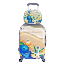 customized eminent carry polo pc suitcase rolling luggage tote bag set