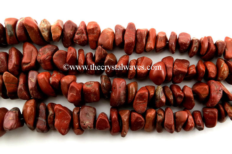 Red Jasper Large Chips Graduated Strands