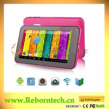 7 inch AllwinnerA23 tablet pc with replace battery and external keyboard